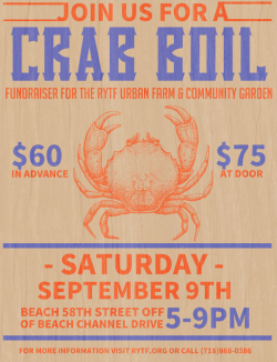 Farm Dinner: Crab Boil Fundraiser @ Rockaway Youth Task Force Urban Farm | New York | United States